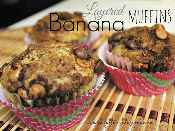 Layered Banana Muffin
