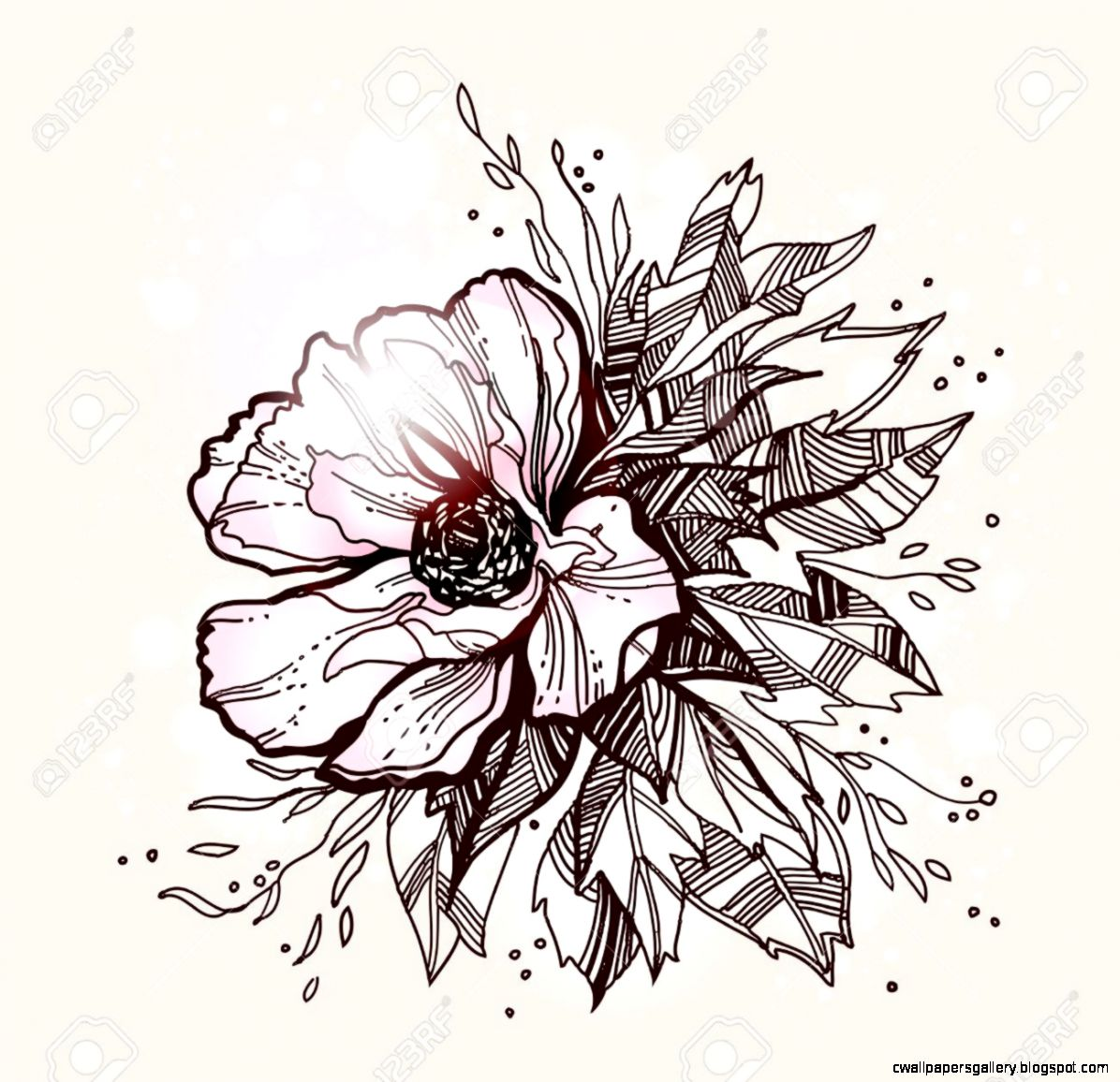 Beautiful flower designs wallpapers gallery view original size beautiful vector flower design izmirmasajfo
