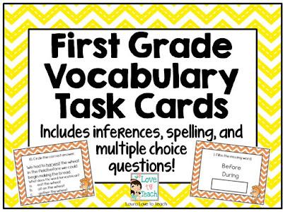 https://www.teacherspayteachers.com/Product/First-Grade-Vocabulary-Task-Cards-1939768