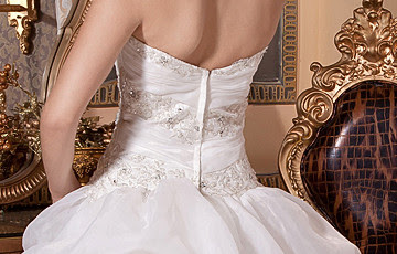 Élégant satin blanc organza robe de bal bretelles Robe de mariée