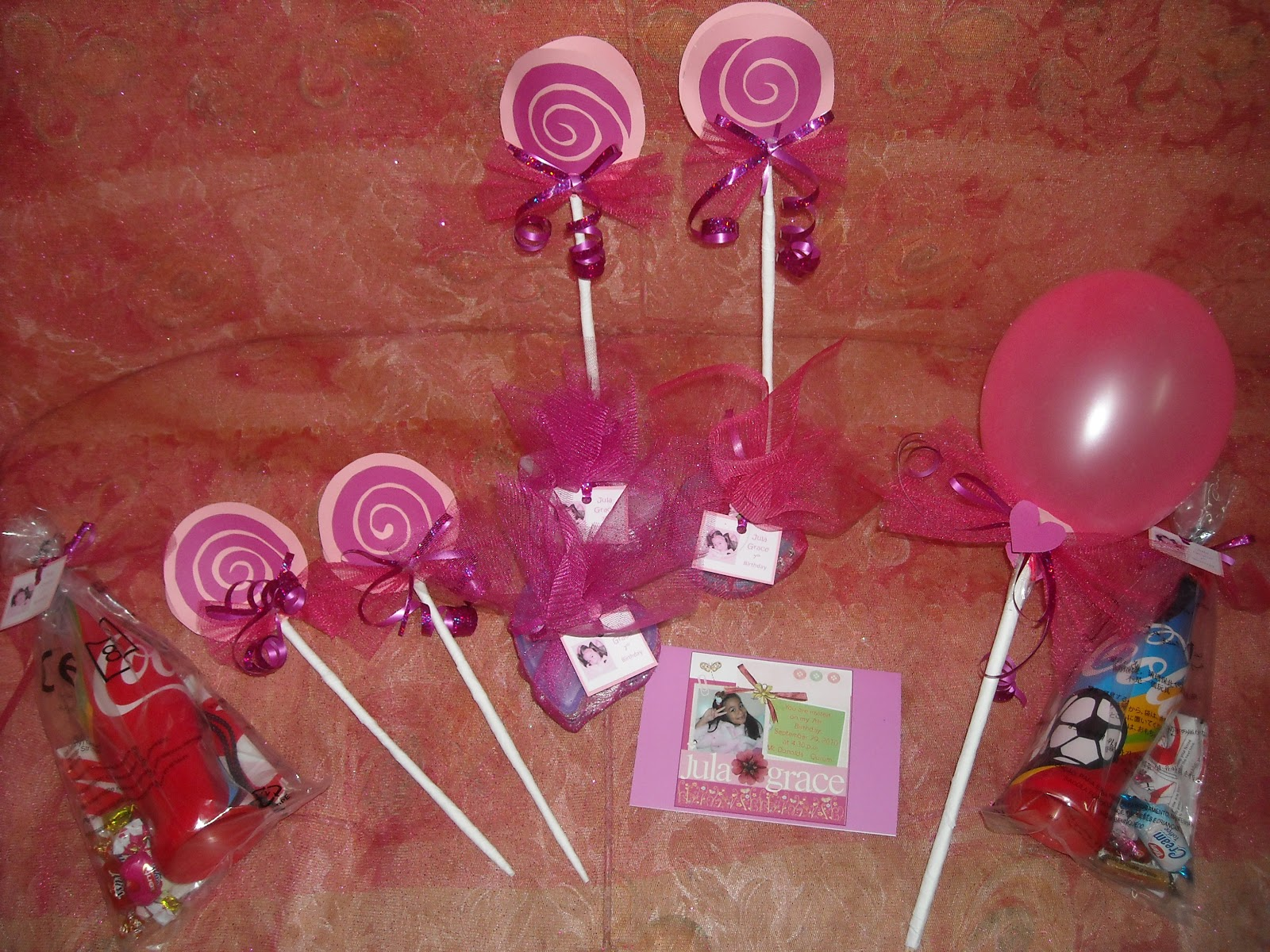 But An Idea Of Having A Seven Balloons And Lollipops In Her Program Since Its 7th Birthday We Design Banner With Pictures