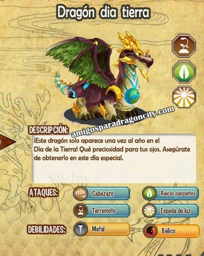 imagen de las caracteristicas del dragon dragon dia tierra