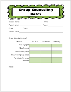 Keeping Track Of Counseling Notes The Middle School Counselor - School counselor lesson plan template