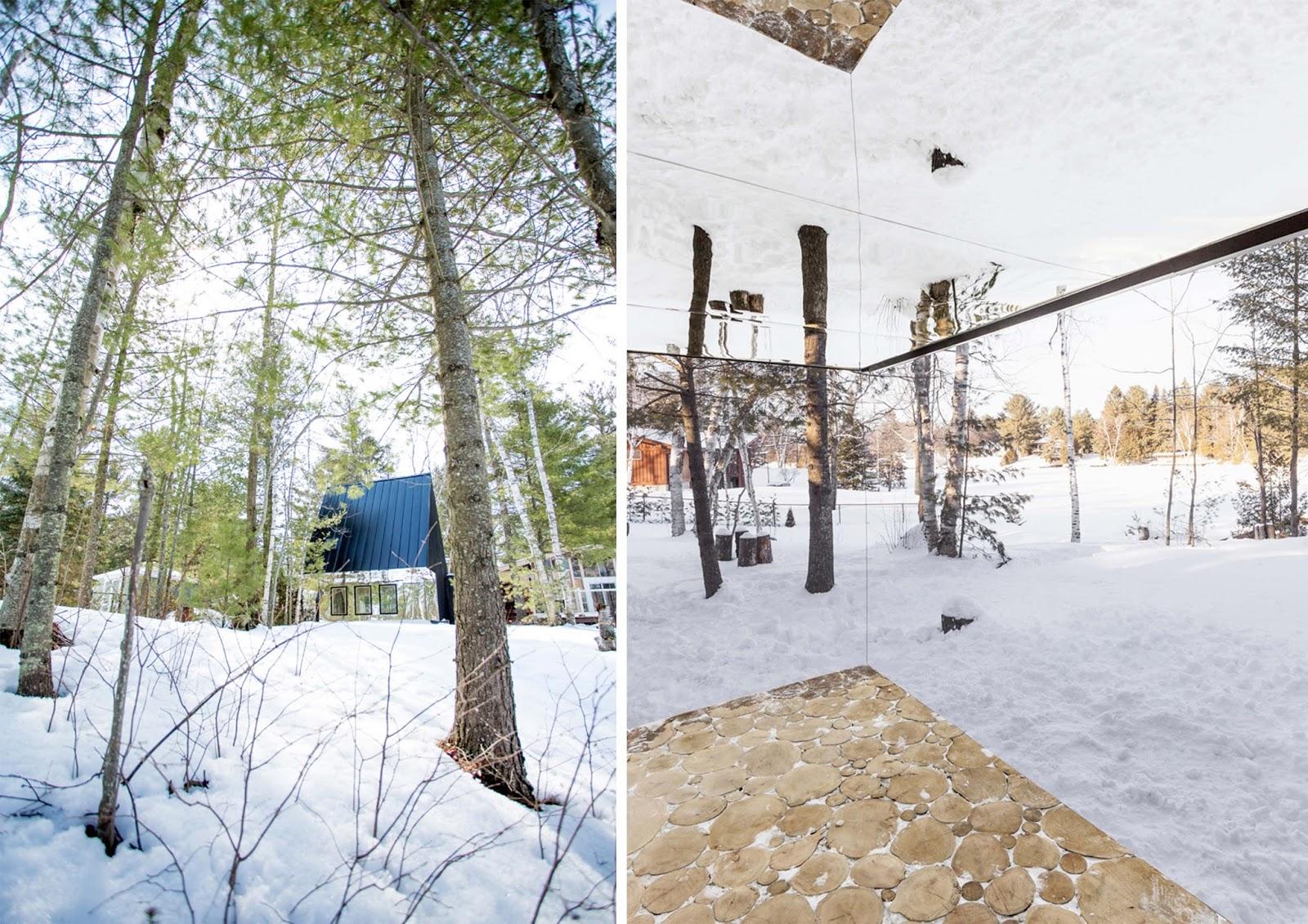 Lake cottage di uufie reinterpreta la casa albero in for Piani casa ontario