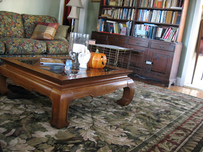 Anyway, it was a large, square chow table, made by Hooker Furniture, - That Old House: Dear Craigslist: We Need A Coffee Table. Now.