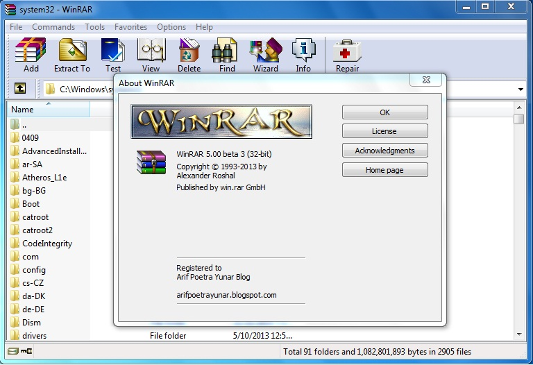 Download WinRAR 5.00 Beta 3 Full Version - Arif Poetra
