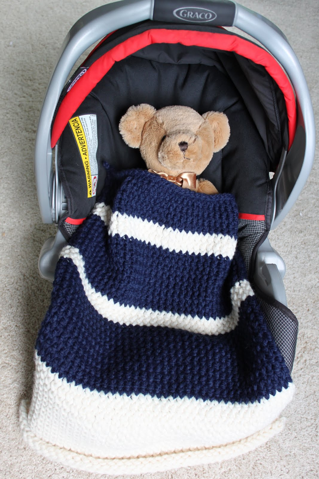 Car Seat Blanket Knitting Pattern : CREATE STUDIO: Knit Car Seat Blanket