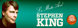 50% reducere, toate cartile Stephen King