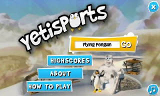 Screenshots of the Yetisports for Android tablet, phone.