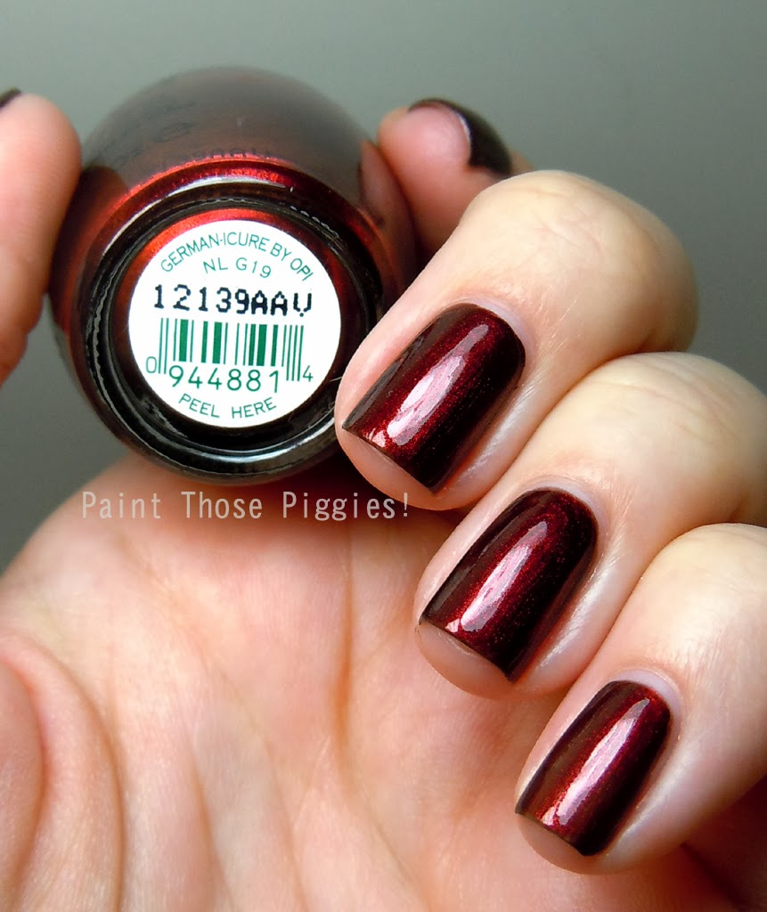 OPI German-icure by OPI  Swatches and ReviewOpi German Icure