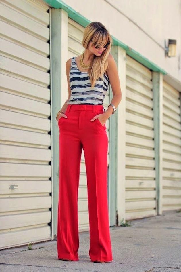 Como usar calças de cintura alta