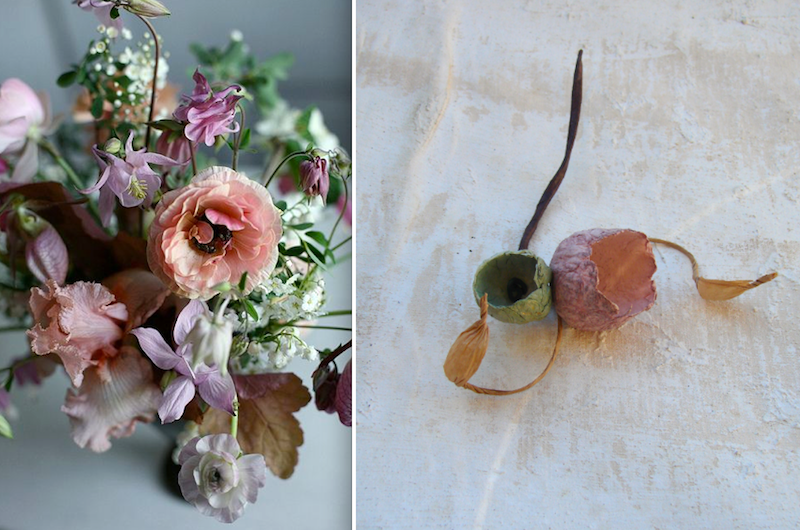 boutonniere prugna verde per matrimonio ecologico . Wedding inspiration colors