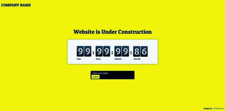 Website Under Construction Web and Mobile Template for Free