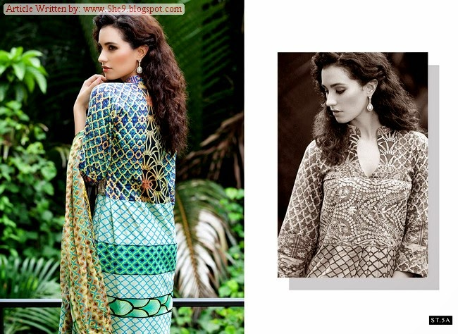 Shariq's Mavi Designer Embroidered Winter Dresses