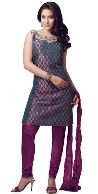 Women Churidar Shalwaar kameez 2012