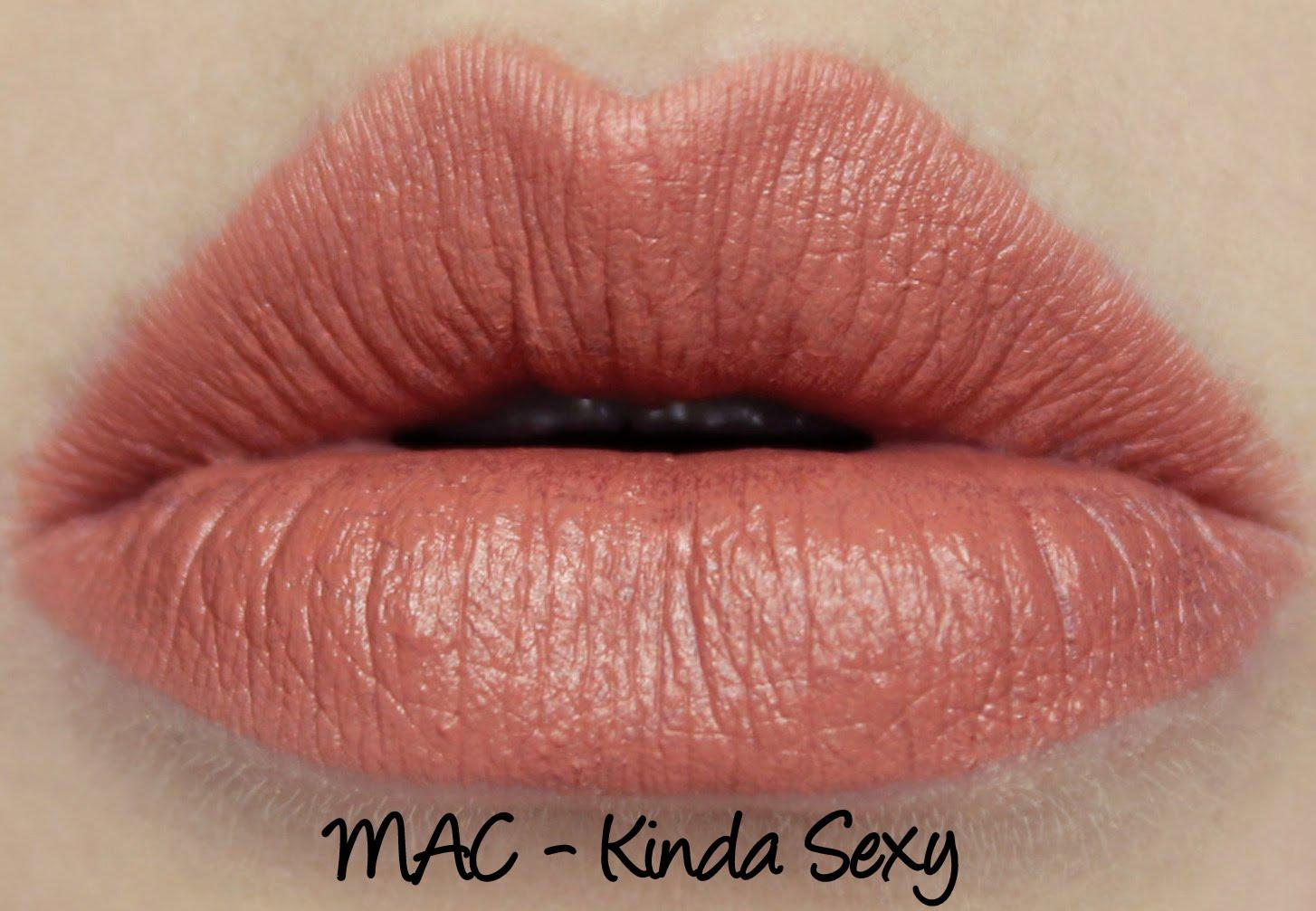 MAC Kinda Sexy lipstick swatch