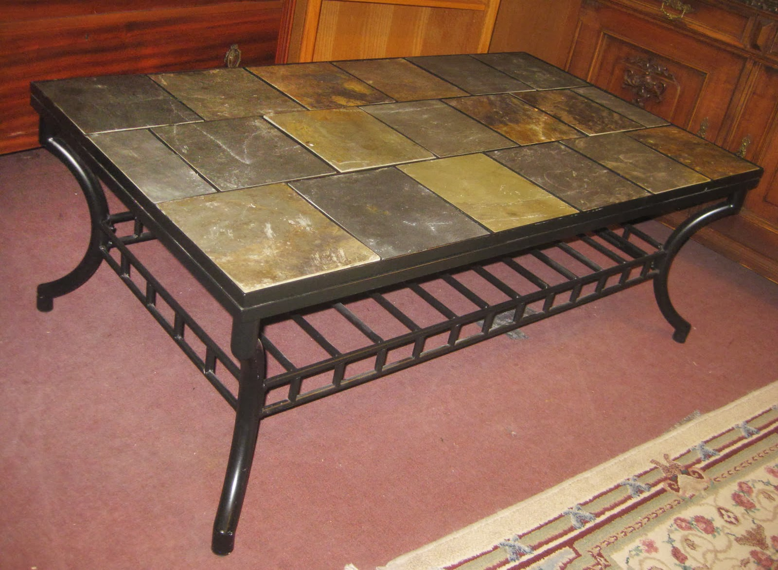 Uhuru Furniture Collectibles Sold Tile Top Coffee Table 40