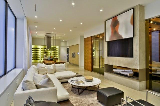 Salas con chimenea y tv salas con estilo - Chimeneas con television ...