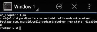 cell broadcast channel 50 disable command