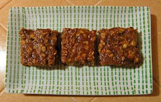 Three Persimmon Bars on Plate