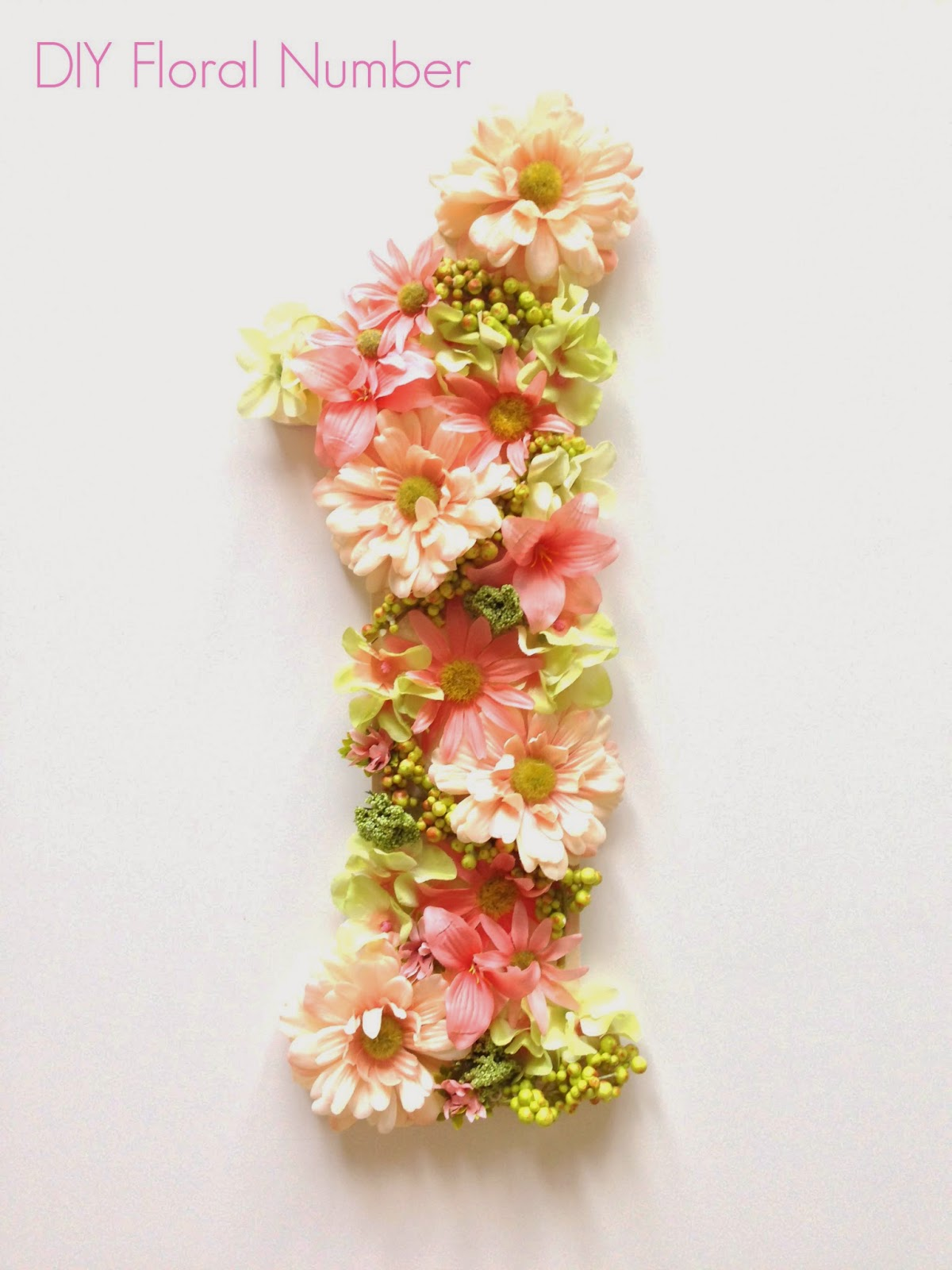 DIY: Floral number