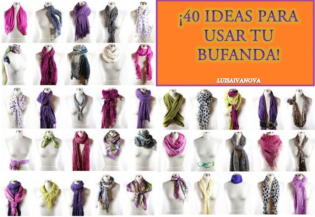 ideas usar bufanda