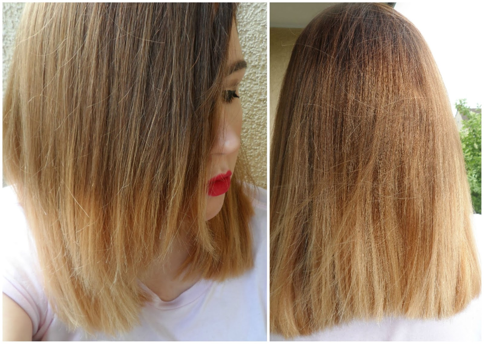 Long bob lob inspired by chrissy teigen short ombre - Long bob braun ...