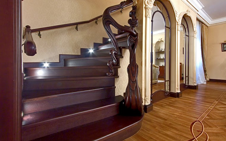 stylish wood stairs
