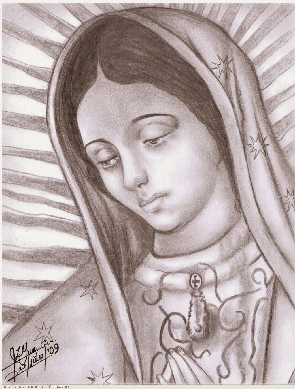 Imagenes y Fotos de Dibujos de la virgen de guadalupe para pintar