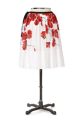 Anthropologie Spring Song Skirt