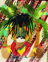"PATRICIA ANN WILSON ""Rasta Drummer with Banana Baskets"""