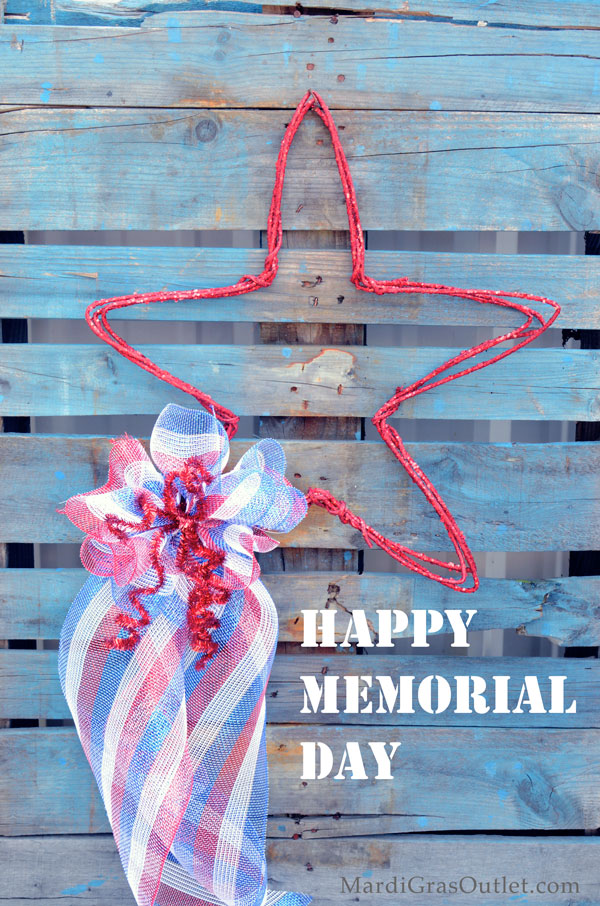 Simple Star Decoration in honor of Memorial Day 2013