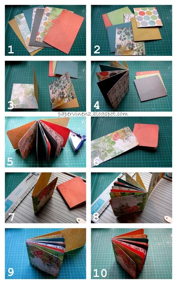 Folded Paper Mini Albums (Tutorial) | PaperVine