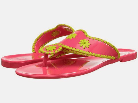 Jack Rogers sandals pink and green
