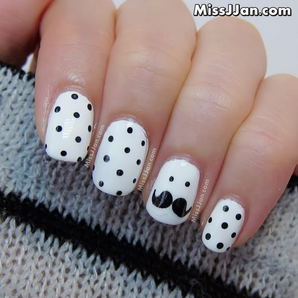 Missjjans beauty blog movember moustache nail art tutorial i hope you all had a fun and safe halloween cant believe november is here in todays post i wanted to share with you a movember moustache nail art it prinsesfo Choice Image