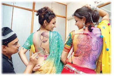 Modern Tattoo Designs For Navratri Celebration