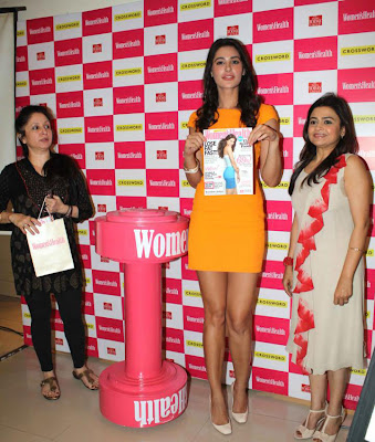nargis fakhri launches womens health magazine glamour  images