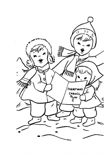 Advent idea box day 26 for Christmas carol coloring pages