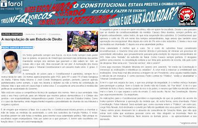 Resultado, Acorda, Portugal, Acordo, Juízes, Tribunal, Tribunal Constitucional, Nomeações, Crise, Estado, Direito, Violação, Austeridade, Manipulação, Corrupção, Política