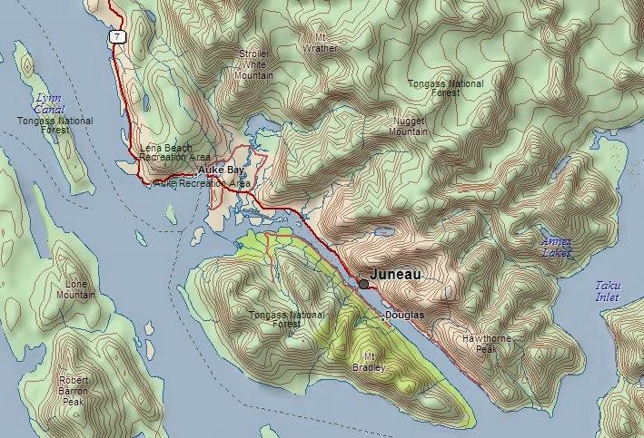 Admiralty Island Map