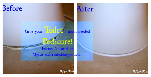 MyLove2Create, Give your Toilet a much needed Pedicure