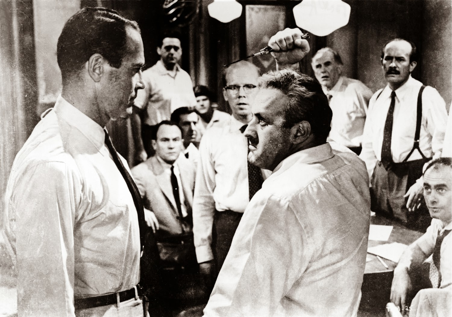 """an overview of the murder trial in the story 12 angry men """"12 angry men"""" focuses on a jury's deliberations in a capital murder case a 12-man jury is sent to begin deliberations in the first-degree murder trial of an 18-year-old latino accused in the stabbing death of his father, where a guilty verdict means an automatic death sentence."""