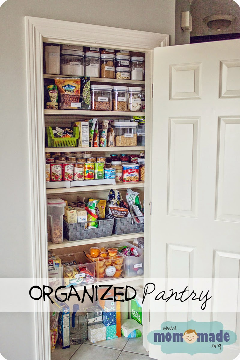 Organized Pantry with Containers by Mom-Made