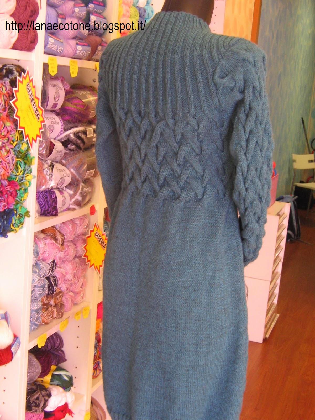 spesso Lana e Cotone (maglia e uncinetto): Vestito a ferri YY04