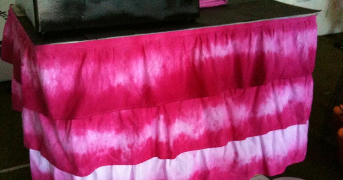 Ilovetocreate Blog Tie Dye Tablecloth Tutorial