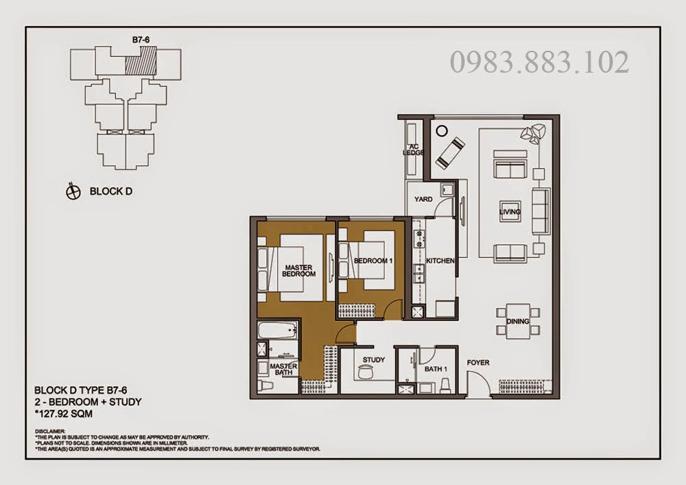 Thiết kế căn B7-6 Chung cư Mulberry