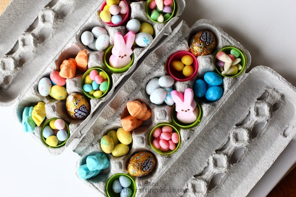 Whats on 4 kids parties easter gift ideas this option would be great to give as a family gift instead of individual mix up up with mini easter eggs lollies then wrap the carton in some pretty negle Images