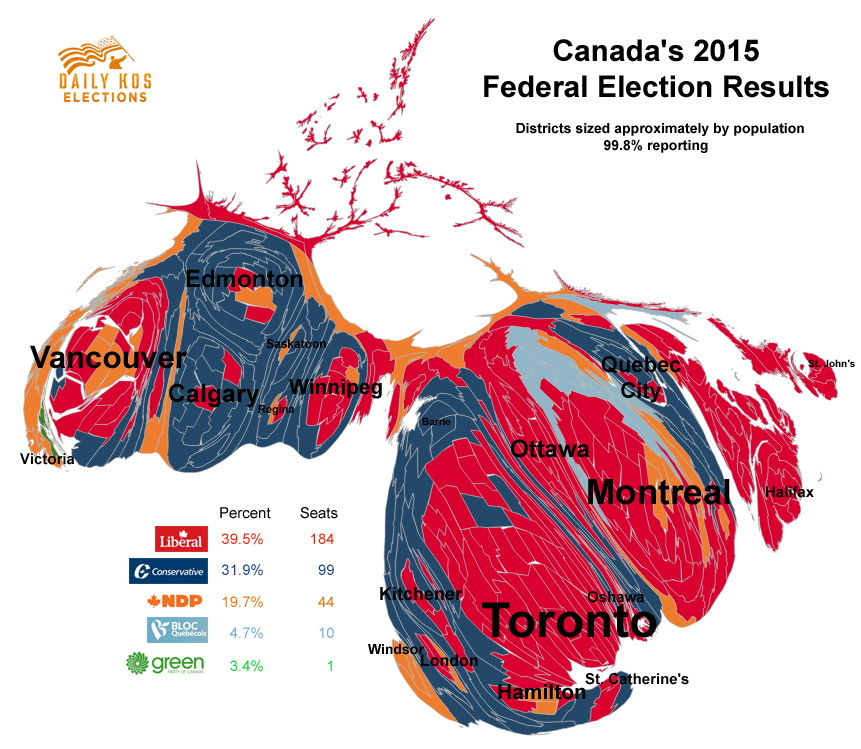 Canada's 2015 Federal Election Results