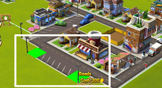 Cityville 2 parking lot screen