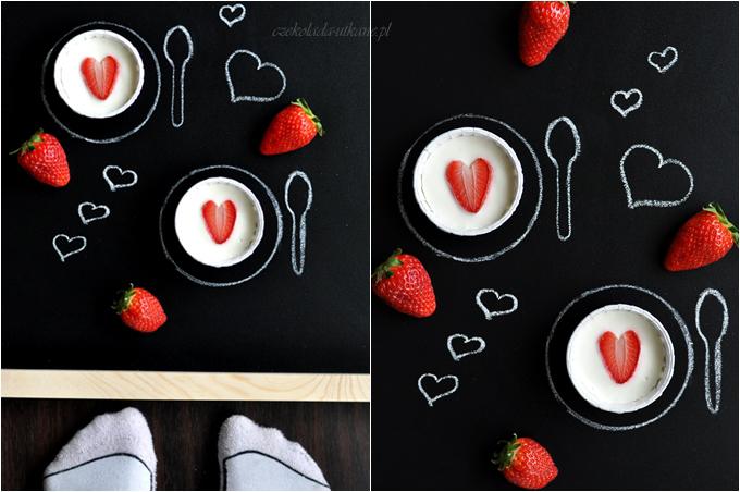 serniczki, truskawki, w kształcie serc
